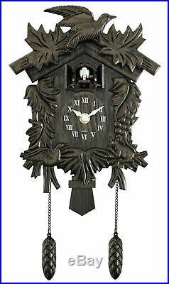 New Acctim Hamburg Cuckoo Pendulum Bronze Wood Effect Antique Wall Clock