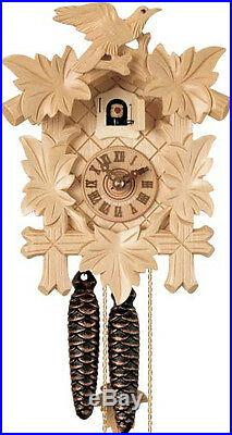 New Hones Black Forest 100NAT 1-Day 8.5 Tall Natural Wood Stain Cuckoo Clock