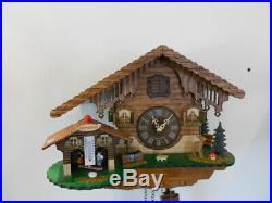 New Original Black Forest Cuckoo Clock, with Weather-House, Quartz Incl Batt