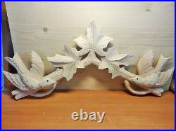 New Solid Wood Cuckoo Clock Topper Bird With Maple Leaves