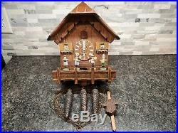 Nice German Black Forest Animated Band Musical Cuckoo Clock L23