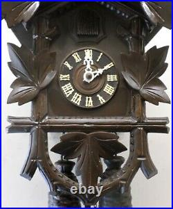 Nice Old Large Unusual German Welby Traditional 8 Day Black Forest Cuckoo Clock