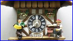 Nice Working German Black Forest Seth Thomas Swiss Chalet Serenade Cuckoo Clock