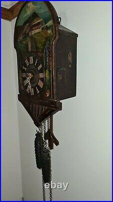 Old Cuckoo Clock c1920 runs but needs adjustment