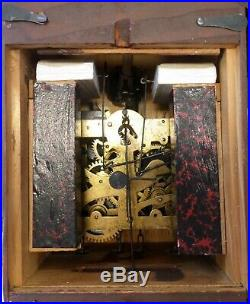 Old German August Schatz Traditional Carved Wood 8 Day Black Forest Cuckoo Clock
