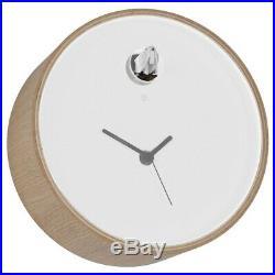 PLEX 211TL Birch DIAMANTINI & DOMENICONI Luminous Cuckoo Mantel LED Clock