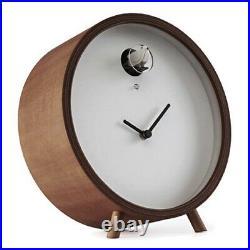 PLEX 211T walnut Desk Cuckoo Clock Diamantini Domeniconi