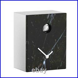 PORTOBELLO Marquina black marble wall and mantel cuckoo clock