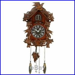 Qtz Cuckoo Clock Bird on Top Wooden Case Large