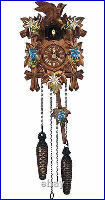 Quartz Cuckoo Clock 5 leaves, bird, with music SC Q 70/10E NEW