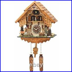 Quartz Cuckoo Clock with Moving Dancers, Weights & 12 Tunes