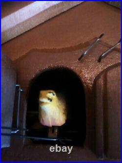 RARE Vintage German Black Forest Whimsical Birds Cuckoo Clock Mech/Elec Musical