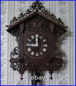 Railroad Cuckoo Clock Topper Crown XL 16 Solid Wood- New- Magnificent
