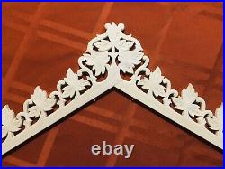 Railroad Cuckoo Clock Topper Crown XL 17-1/2 Solid Wood-Magnificent. 11 Leaves