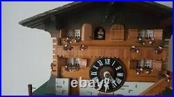 Rare Cuendet Chalet Musical Mechanical Cuckoo Clock Working Excellent