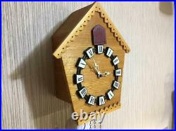 Rare Vintage USSR Mayak Wall Hanging Mechanical Wooden Cuckoo Clock Fight