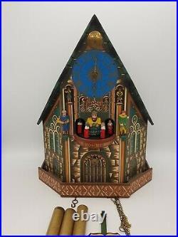 Rare musical Trumpeter Automaton Shelf Cuckoo Clock Nuremberg Church Of Our Lady