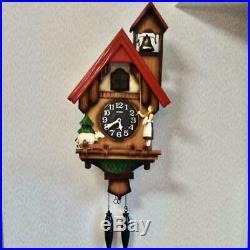 Rhythm Clock Wall Clock Analog Cuckoo Tyrolean R 4MJ732RH06 New F/S
