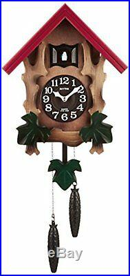 Rhythm Cuckoo Wall Clock COCKOO MELVILLE R Free Ship withTracking# New from Japan