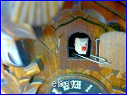 River City Clocks Quartz Cuckoo Clock with Five Leaves & Bird AS IS (XM11)