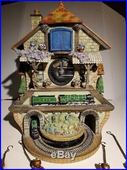 Train Cuckoo Clock The Flying Scotsman Memories of Steam Working