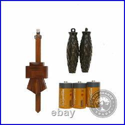 USED Kintrot KT1129 Cuckoo Clock Handcrafted Black Walnut Forest Wood Wall Decor