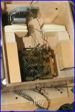 VINTAGE Cuckoo Clock Made in West Germany GERMAN WATER WHEEL WOOD CHOPPER
