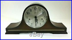 VTG Mantle Clock Linden Triple Chime Cuckoo Clock Co West Germany Wood Key DS72