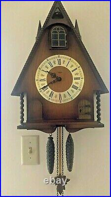 Vintage Antique Steeple Cathedral Cuckoo Gong Clock Linden Germany LQQK