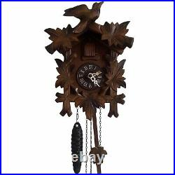 Vintage Black Forest Cuckoo Clock Wooden Wall West Germany Regula Movement 24 Hr
