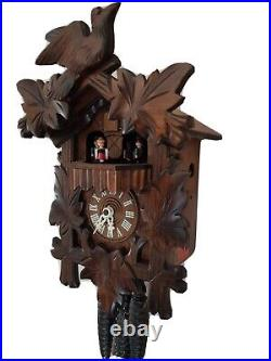 Vintage Black Forest Musical Cuckoo Clock with Dancers