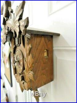 Vintage Carved Wood Cuckoo Clock