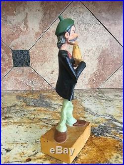 Vintage Cuckoo Clock Style Hand Painted Carved Wood Figure Steinbach German Folk