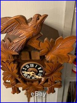 Vintage Gueissaz Jaccard Cuckoo Clock Swiss Musical Movement Edelweiss
