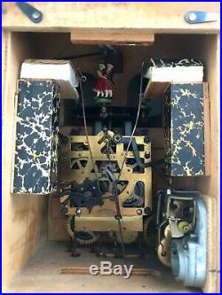 Vintage Hand Made Wooden Regula Musical Dancers Wheel Cuckoo Clock Germany