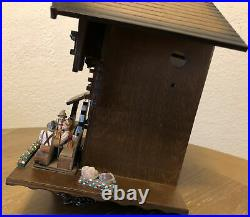 Vintage Hand Painted Gueissaz-Jaccard Edelweiss German Cuckoo Clock Untested