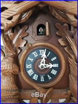 Vintage Hunting 8 days Cuckoo Clock -fully functional from Hubert Herr