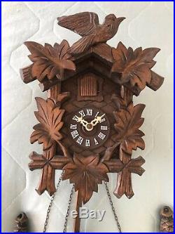Vintage REGULA Hand Made Wooden Black Forest Cuckoo Clock Made in Germany