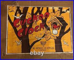 Vintage! Rare Mi-Ken Wood Cuckoo Clock With Original Box! Works! Made in Japan