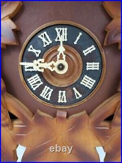 Vintage Regula West Germany Cuckoo Clock Black Forest 19 1/2 Tall