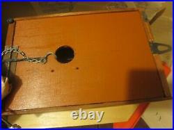 Vintage Russia Russian Cuckoo Clock Yachpom Mark colorful wood & plastic