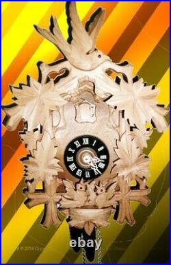 Vintage SCHMECKENBECHER in Raw Wood Flying Nesting Cuckoo clock #4 (Large Sized)
