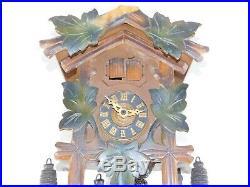 Vintage Schmeckenbecher Black Forest Cuckoo Clock Wood Hunter Cabin Blue Danube