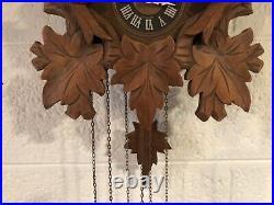 Vintage Switzerland Swiss Cuendet 1-Day Cuckoo Clock Plays Edelweiss Works