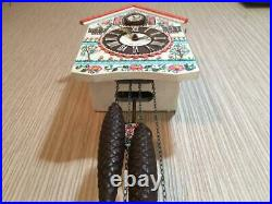 Vintage USSR Mayak Wall Hanging Author's Painting Mechanical Cuckoo Clock Fight