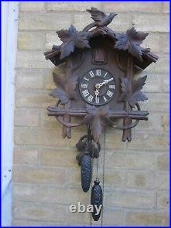 Vtg Large Retro Antique Working Cuckoo Clock