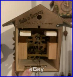 Vtg Small Black Forest Original 8 Day Cuckoo Clock Wooden Germany Movement Wood