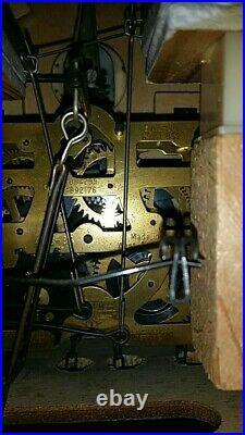 West German Cuckoo Clock fully working wooden Black Forest Antique Vintage