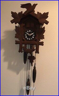 West Germany Cookoo Clock Wood Vintage Musical