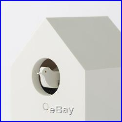 With tracking MUJI Mechanical cuckoo Wall or put clock White Japan light sensor